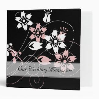Elegant Swirls And Flowers Wedding Binders