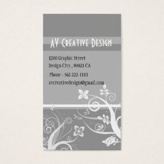 Elegant Swirls - Customized Business Card