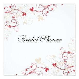 Elegant  Swirls Pattern Bridal Shower Card