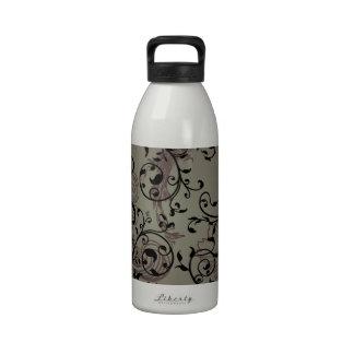 Elegant Swirls Reusable Water Bottle