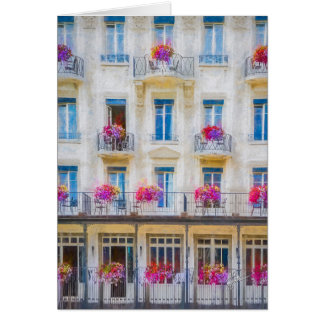 Elegant Swiss Windows Floral Photograph Blank Note Card