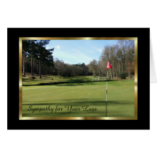 Elegant Sympathy Card for a Man who Loved Golf