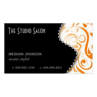 Elegant Tangerine Swirly Swirl Business Card