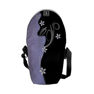 Elegant Tanzanite Floral Messenger Bag