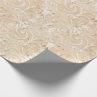 Elegant Taupe Damask Wrapping Paper