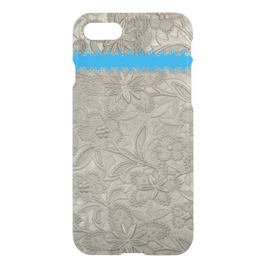 Elegant Taupe floral iPhone 7 Case