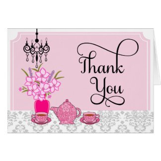 Elegant Tea Party Thank You Card