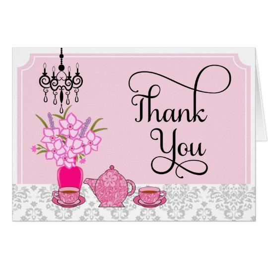Elegant Tea Party Thank You Card
