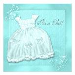 Elegant Teal Blue Dress Baby Shower