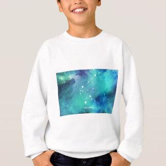 Elegant Teal Blue Watercolor Nebula Aquarius Sweatshirt