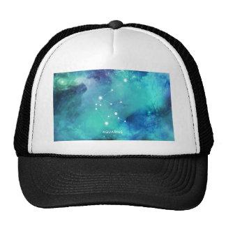 Elegant Teal Blue Watercolor Nebula Aquarius Trucker Hat