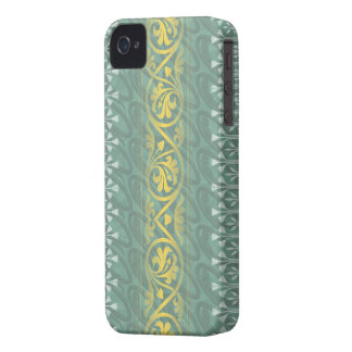 Elegant Teal Butter Damask Blackberry Bold iPhone 4 Covers