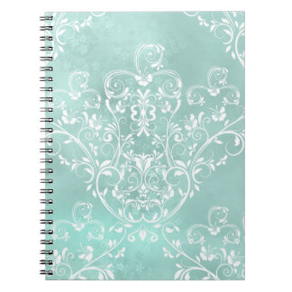 Elegant Teal Damask Notebook
