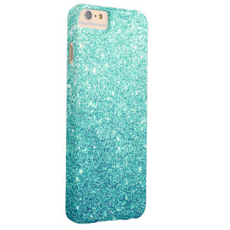 Elegant Teal Glitter Luxury Barely There iPhone 6 Plus Case
