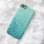 Elegant Teal Glitter Luxury iPhone 6 Case Barely There iPhone 6 Case