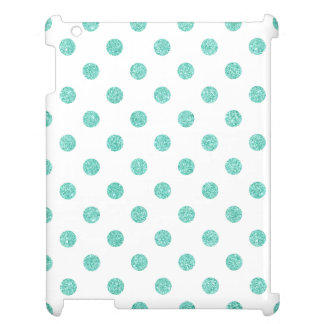Elegant Teal Glitter Polka Dots Pattern Cover For The iPad 2 3 4