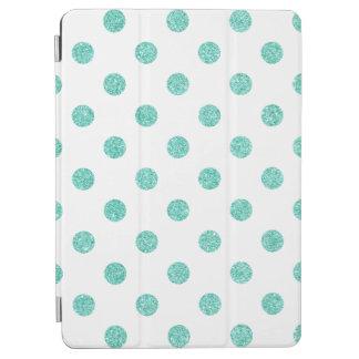 Elegant Teal Glitter Polka Dots Pattern iPad Air Cover