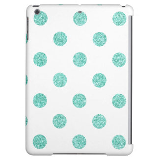 Elegant Teal Glitter Polka Dots Pattern iPad Air Covers