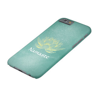 Elegant Teal Gold Lotus Yoga Mediation Instructor Barely There iPhone 6 Case