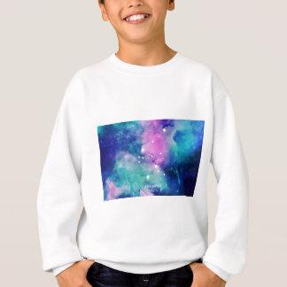 Elegant Teal Pink Blue Nebula Aquarius Sweatshirt