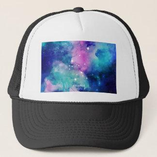 Elegant Teal Pink Blue Nebula Aquarius Trucker Hat