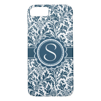 Elegant Teal William Morris Floral iPhone 7 Case