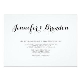 Elegant text wedding invitation
