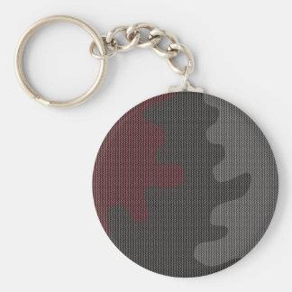 Elegant texture basic round button keychain
