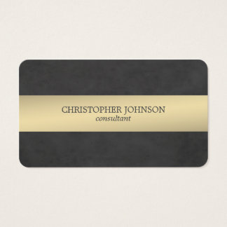 Elegant Texture Black Metal Striped Consultant Business Card
