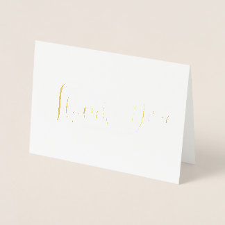ELEGANT THANK YOU CARD REAL GOLD FOIL