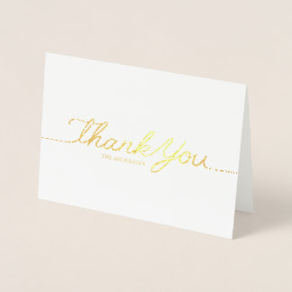 ELEGANT THANK YOU CARD WITH REAL GOLD FOIL