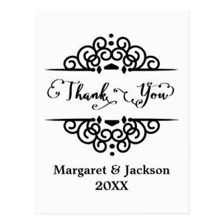 Elegant Thank You - Post Card