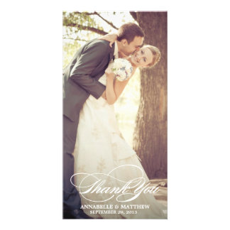 Elegant Thank You Script Wedding Overlay Photo Cards