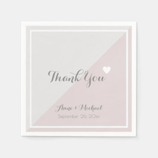 elegant 'thank you' wedding reception party disposable napkin