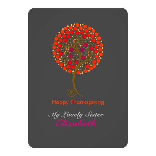 Elegant thankful tree Thanksgiving Card