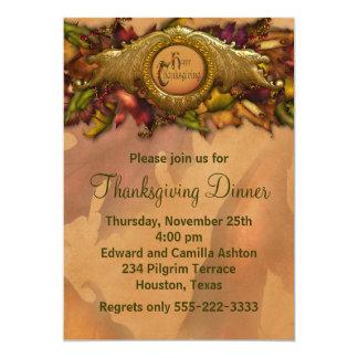 Elegant Thanksgiving Dinner Party Invitations