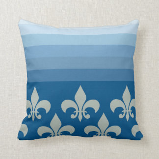 Elegant Throw Pillow with Shades of Blue
