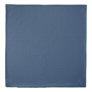 elegant tiny navy blue white polka dots pattern duvet cover