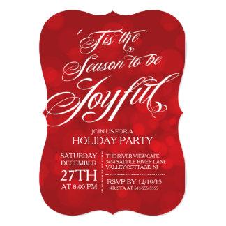 Elegant Tis The Season Joyful Holiday Party Card
