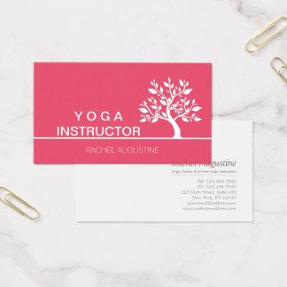 Elegant Tree Yoga Instructor Wellness Life Coach Business Card