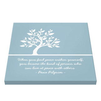 Elegant Tree Yoga Meditation Instructor Quotes Canvas Print