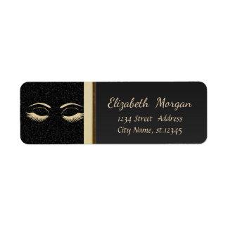 Elegant Trendy  Faux Gold Glittery Lashes,Black