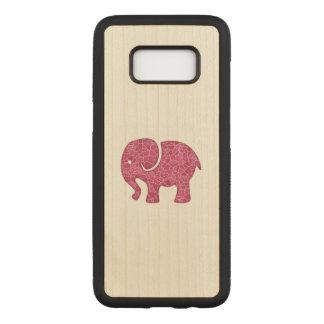 Elegant trendy girly cute elephant carved samsung galaxy s8 case