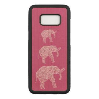 Elegant trendy girly cute elephants carved samsung galaxy s8 case