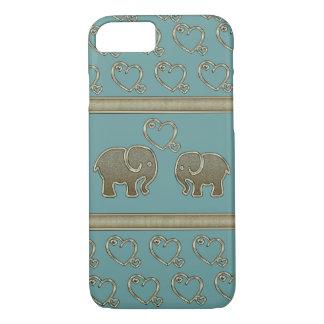 elegant trendy girly cute elephants in love Case-Mate iPhone case