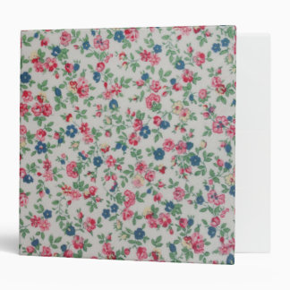Elegant trendy girly vintage roses  floral pattern 3 ring binders