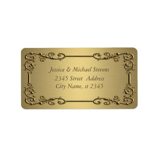 Elegant trendy gold  vintage