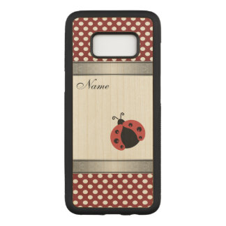 Elegant trendy  ladybug polka dots personalized carved samsung galaxy s8 case