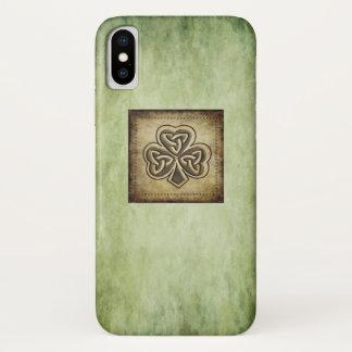 Elegant trendy lucky Irish shamrock Case-Mate iPhone Case