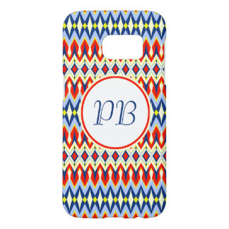 Elegant tribal rhombus native pattern duogram samsung galaxy s7 case